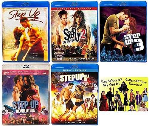 Step Up: Complete Channing Tatum Dance Movie Series 1-5 Blu-ray Collection with Bonus Art Card