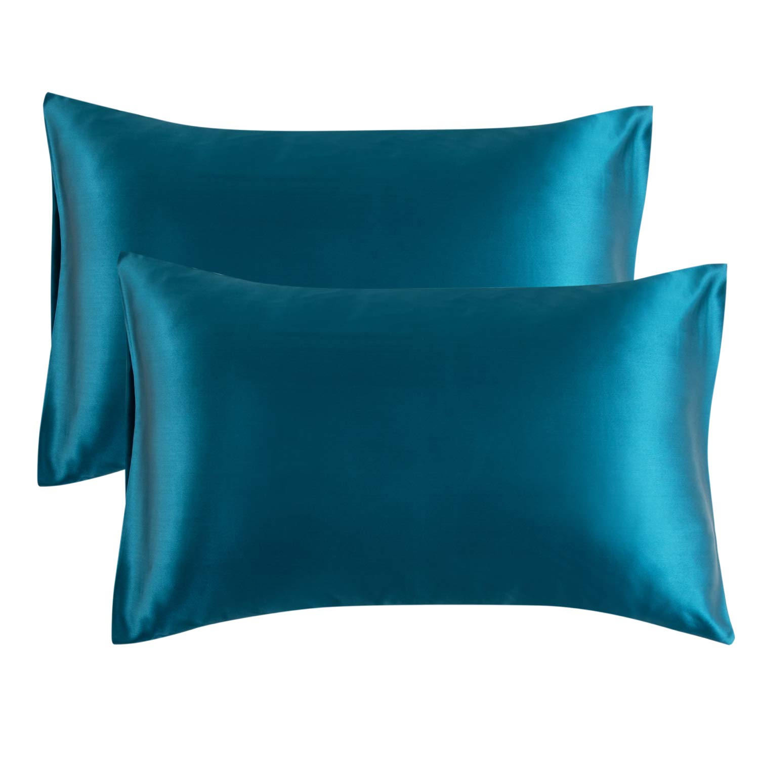 Bedsure Satin Pillowcase for Hair and Skin 2Pack  Standard Size 20x26 inches Pillow Cases  Satin