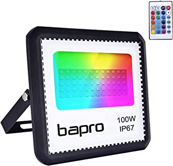 100W RGB Foco LED con Control Remoto, Foco Proyector Exteriores ...
