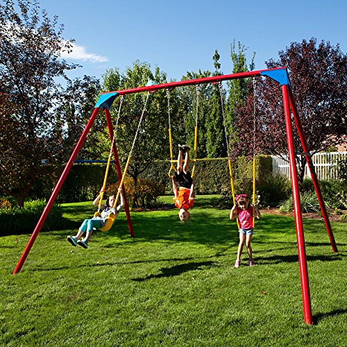 Lifetime Heavy Duty A-Frame Metal Swing Set - ToyMamaShop