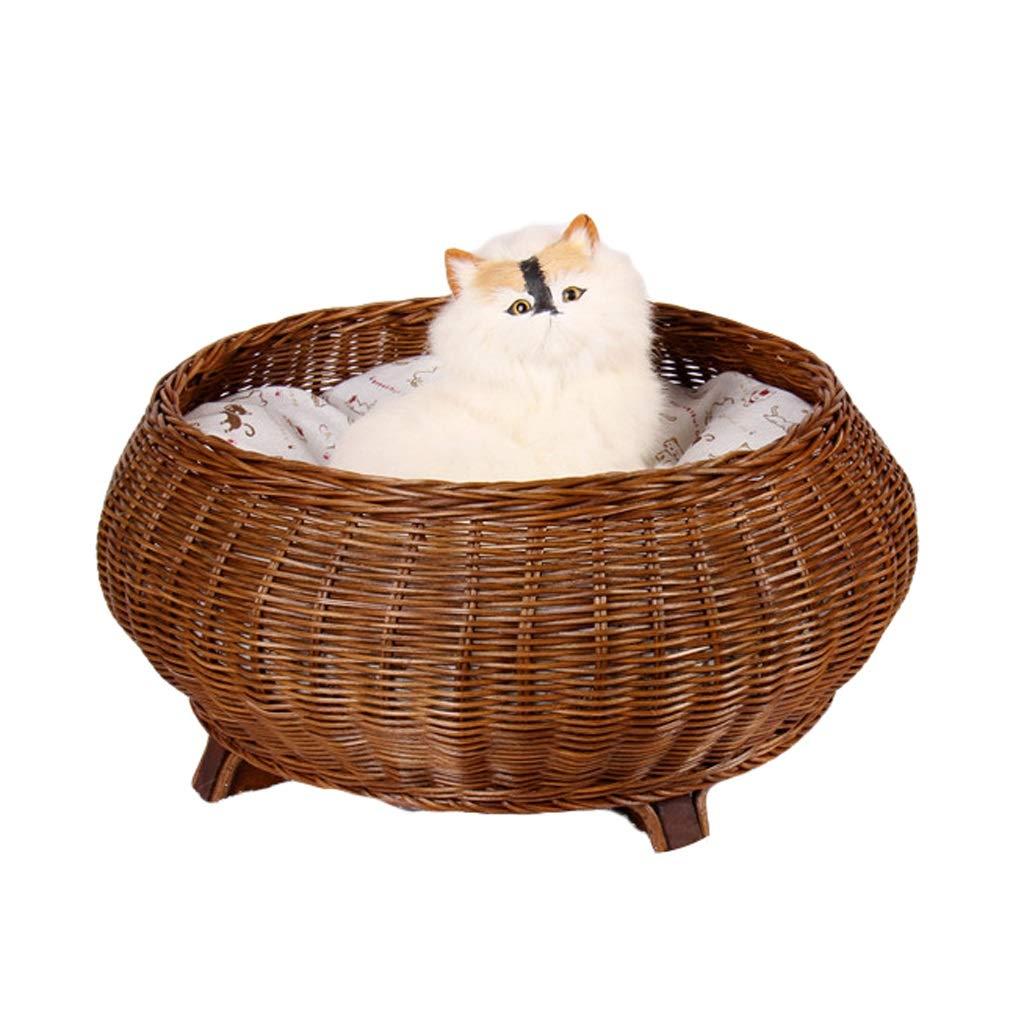 A JIANXIN Pet Nest, Rattan Cat Nest, Dog Bed, Washable, Suitable for Cats, Four Seasons Universal (Four colors) (color   C)