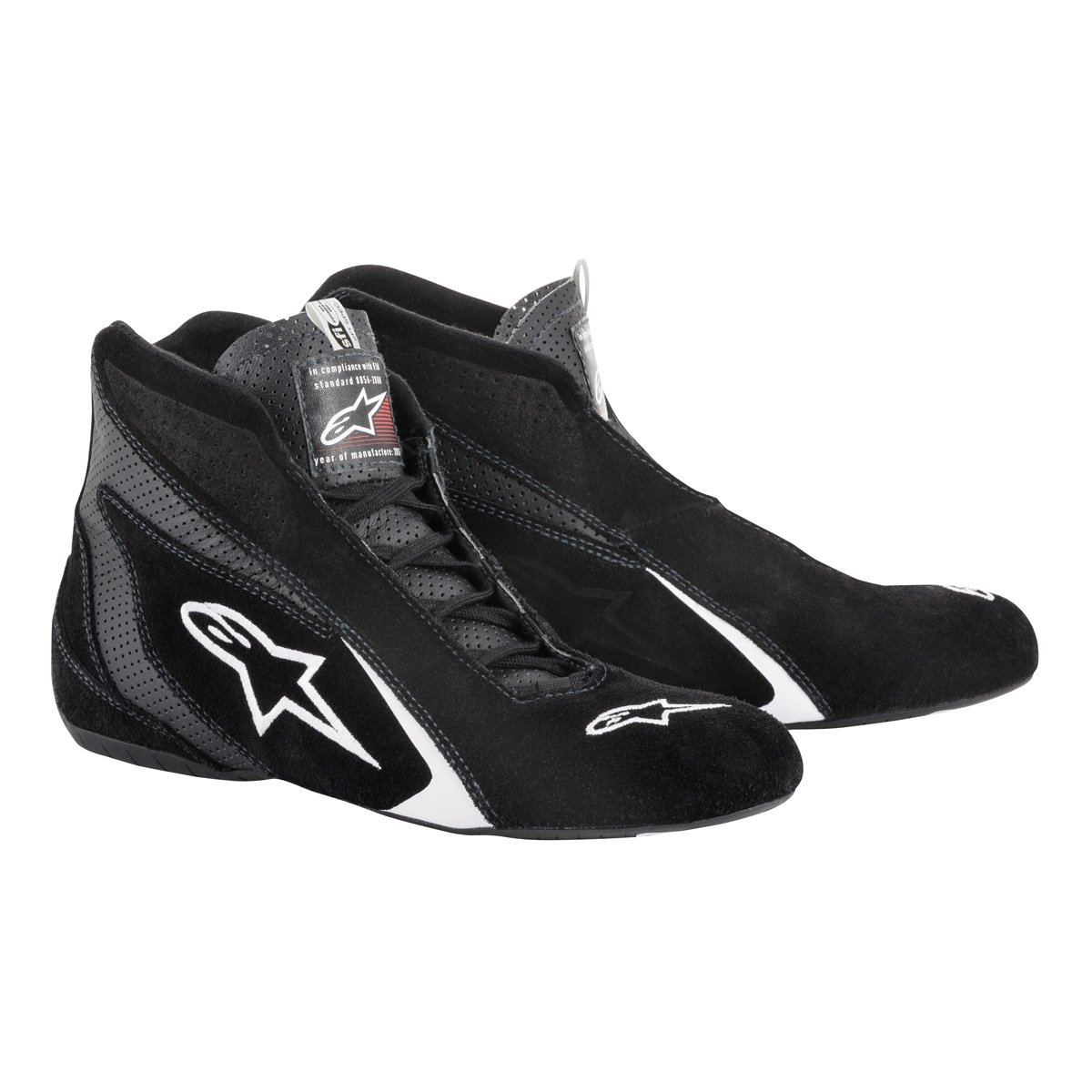 Alpinestars Mens Race Driving Shoes and Boot (Black, Size 8.5), 1 Pack by Alpinestars