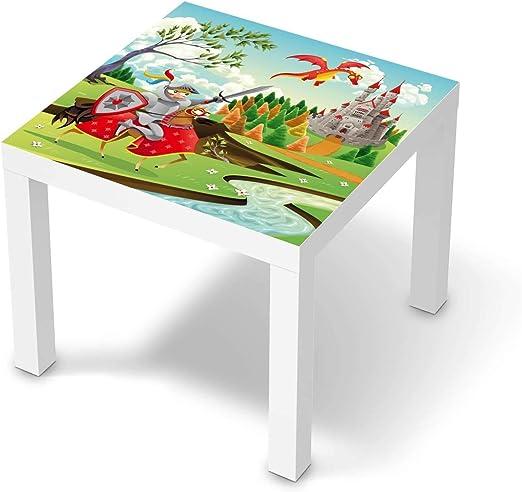 creatisto Wandtattoo Möbel für Kinder passend für IKEA Lack Tisch 55x55 cm I Tolle Möbelaufkleber für Kinder Zimmer Deko I Design: Fairytale