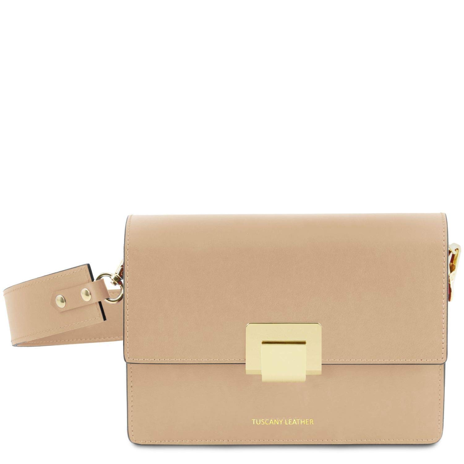 Champagne Tuscany Leather Adele Leather Clutch  TL141742 (Ballet Pink)