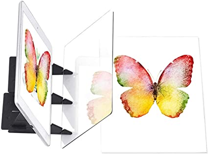Optical Drawing Board Reflection Tracing Board Mirror Copy Pad Panel Art Sketch Wizard Easy Painting Projector Sketching Tool Light Box Drawing Zero Based Mould Toy Artifact For Kid Beginner Adult