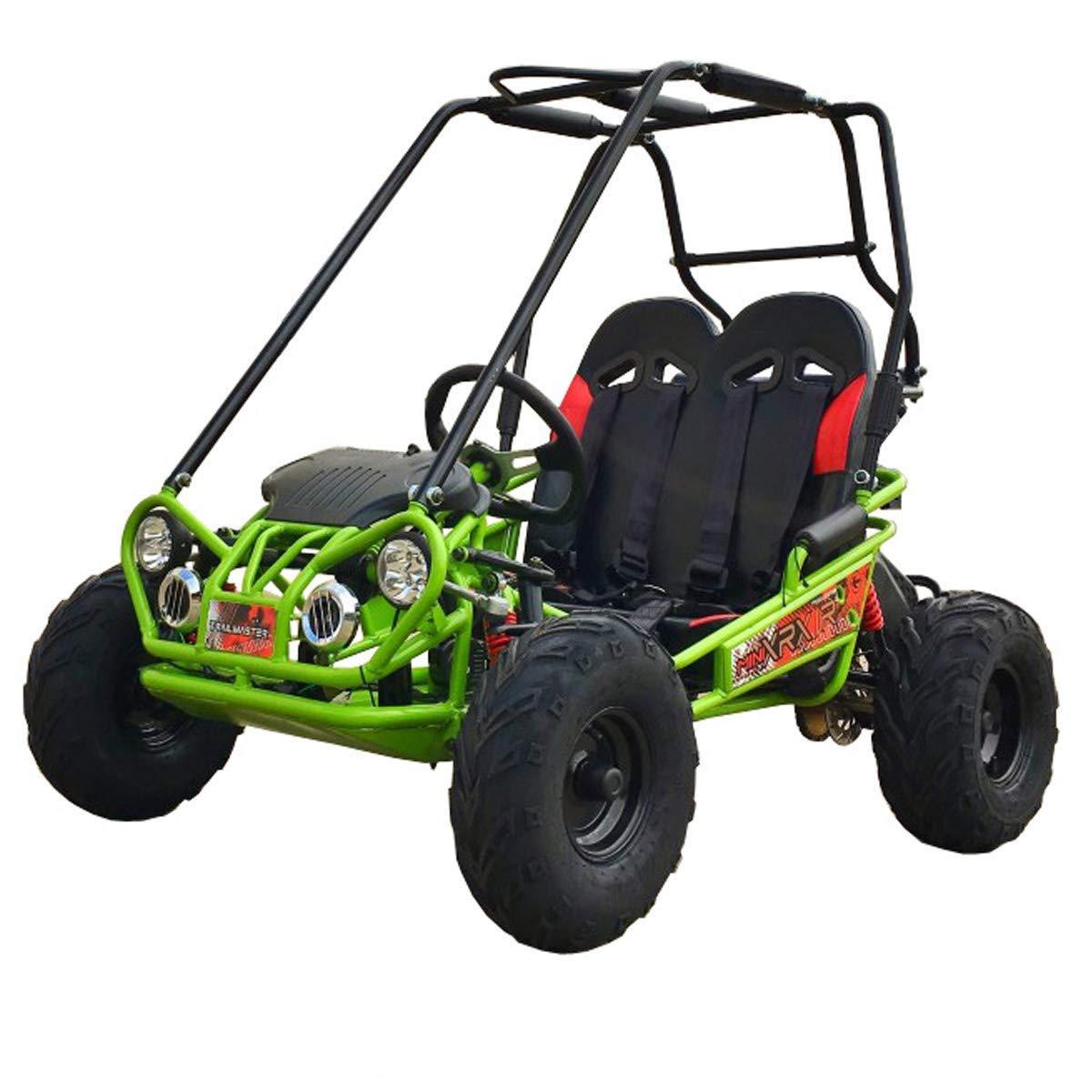 X-PRO 163cc Kid Size Go Kart with Reverse Youth Go Kart Dune Buggy Kids Go Cart Gokart 2 Seater Go Kart