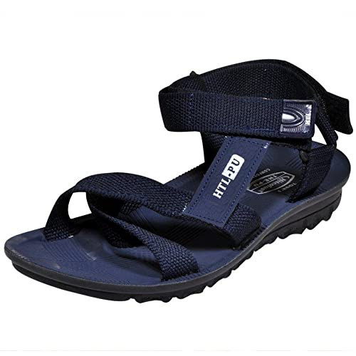 fad165984e28 Hitcolus Men s Trendy Blue PU Sandals  Buy Online at Low Prices in India -  Amazon.in