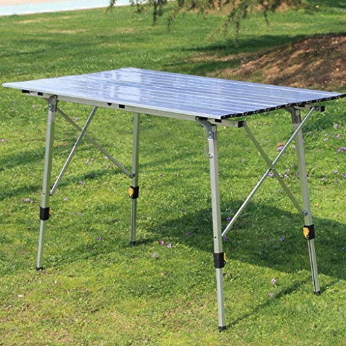 Sodoop Outdoor Folding Table, Portable Camping Side Tables with Aluminum Ultralight Folding Table Top for Picnic, Camp, Beach, Boat, Useful, Camping Dining Table, Easy to Clean