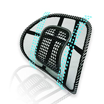 Big Ant Lumbar Support, Car Mesh Back Support with Massage Beads Ergonomic Designed for Comfort and Lower Back Pain Relief - Lumbar Back Support Cushion for Car Seat, Office Chair,Wheelchair: Automotive