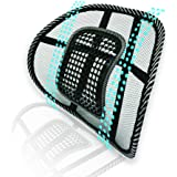 Big Ant Lumbar Support, Car Mesh Back Support with Massage Beads Ergonomic Designed for Comfort and Lower Back Pain Relief -
