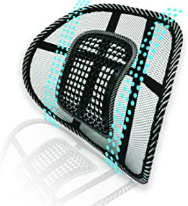 Big Ant Lumbar Support, Car Mesh Back Support with Massage Beads Ergonomic Designed for Comfort and Lower Back Pain Relief - Lumbar Back Support Cushion for Car Seat, Office Chair ,Wheelchair