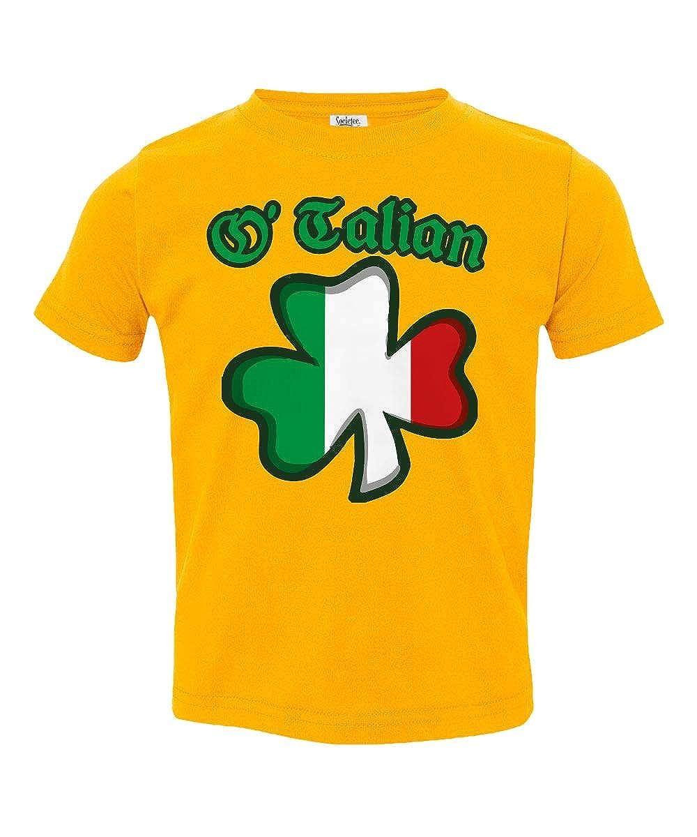 Societee OTalian Italian Irish Shamrock Little Kids Girls Boys Toddler T-Shirt