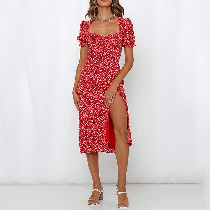 Boho sukienka damska, casual, letnia sukienka z krÓtkim rękawem, sukienka z odcięciami, luźna sukienka plażowa, wysoka talia, krÓtki rękaw, sukienka wieczorowa dla kobiet, nadruk kwiatowy, s
