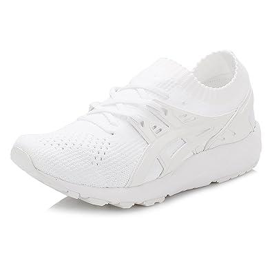 Asics Gel-Kayano Trainer Knit, Chaussures de Course pour Entraînement sur Route Homme, Blanc, 44 EU