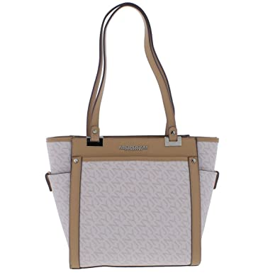 4df2ca974f1f Jones New York Womens Tory Faux Leather Logo Tote Handbag Pink Medium   Handbags  Amazon.com