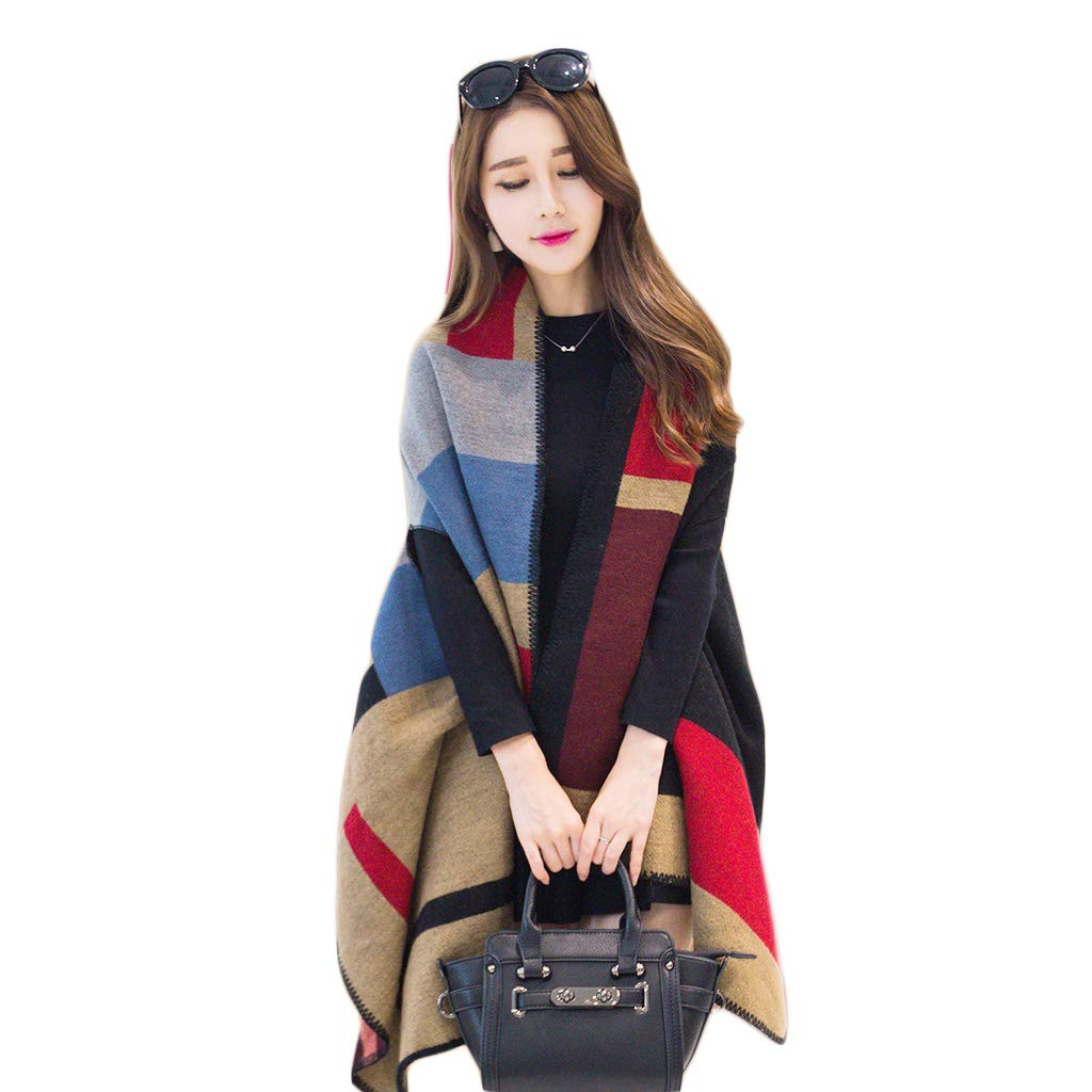 ... HQQ Shawl Scarf Ladies Dual-Use del Versione Coreana del Dual-Use  Selvaggio Inverno e8595bd9680