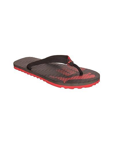 Puma Unisex Miami 6 Dp Black and High Risk Red Flip Flops Thong Sandals - 7 4352e51cb