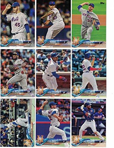 New York Mets/Complete 2018 Topps Series 1 & 2 Baseball 25 Card Team Set! Includes 25 bonus Mets Cards!