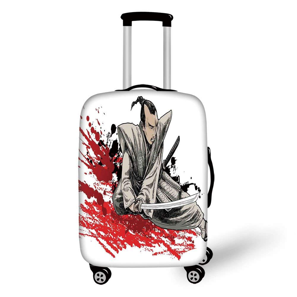 Travel Luggage Cover Suitcase Protector,Japanese,Warrior ...