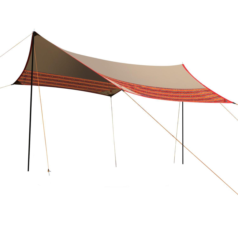 wolfwiseキャンプテントタープシェルターサンシェードアウトドアキャノピーパティオShelter B01M74TC3F  Khaki gray