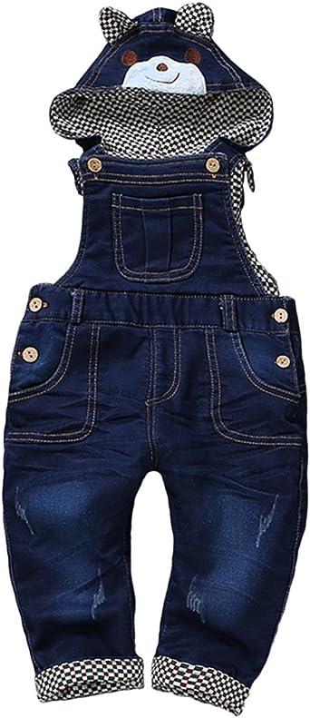 Kidscool Baby Cotton Denim Light Blue Overalls with Hat
