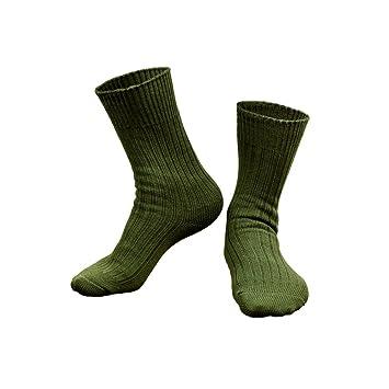 Calcetines largos para hombre OneTigris, estilo militar, algodón, textura firme, hombre, OD verde: Amazon.es: Deportes y aire libre
