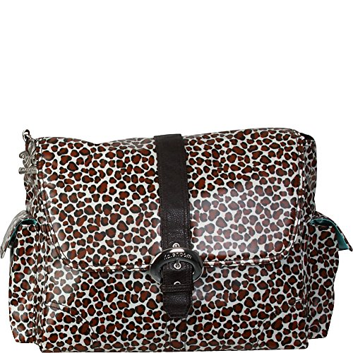 Kalencom KAL 2960 - Bolso cambiador Safari Cheetah, 40 x 15 x 30 cm, negro / marrón