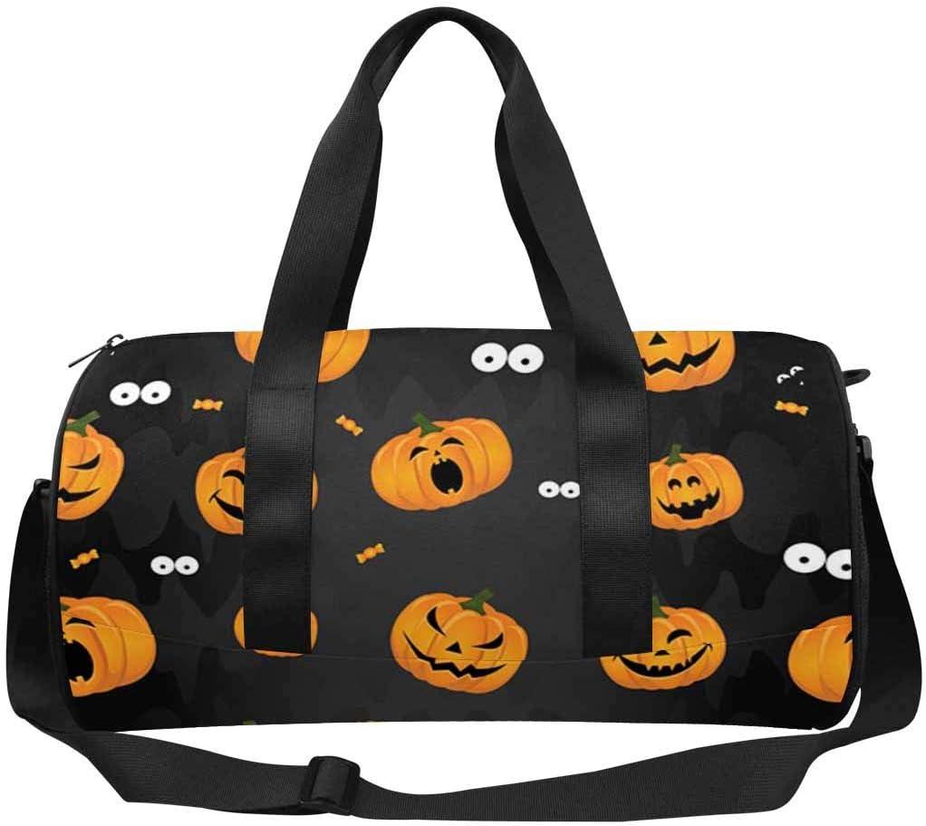 INTERESTPRINT Halloween Funny Pumpkins Travel Duffel Bag for Unisex-Adult Sport