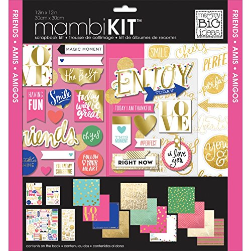 - me & my BIG ideas Colorful Metallics Page Kits, 12-Inch by 12-Inch