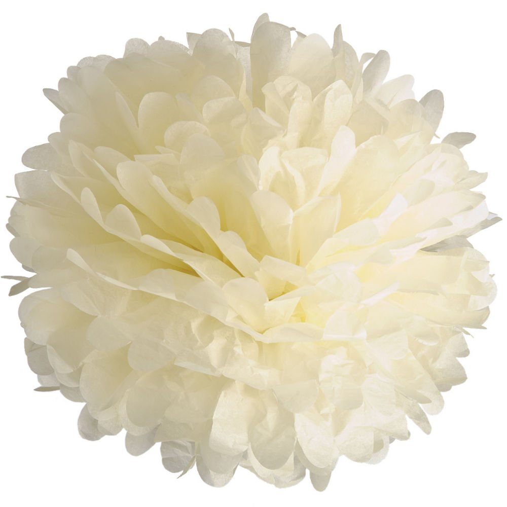 Ideal Party Decoration Yellow 10 x Tissue Paper Pom Poms 10 inches//25 cm