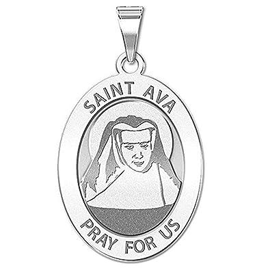 amazon picturesongold saint ava religious medal oval 2 2 X 3 Size Kitchen picturesongold saint ava religious medal oval 2 3 x 3