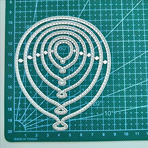 Cards Frame Metal Layered Cutting Dies Christmas Stencil for DIY Album Stamp Scrapbooking Embossing Die Cuts Paper Card Craft Decor Making (Balloon #13)
