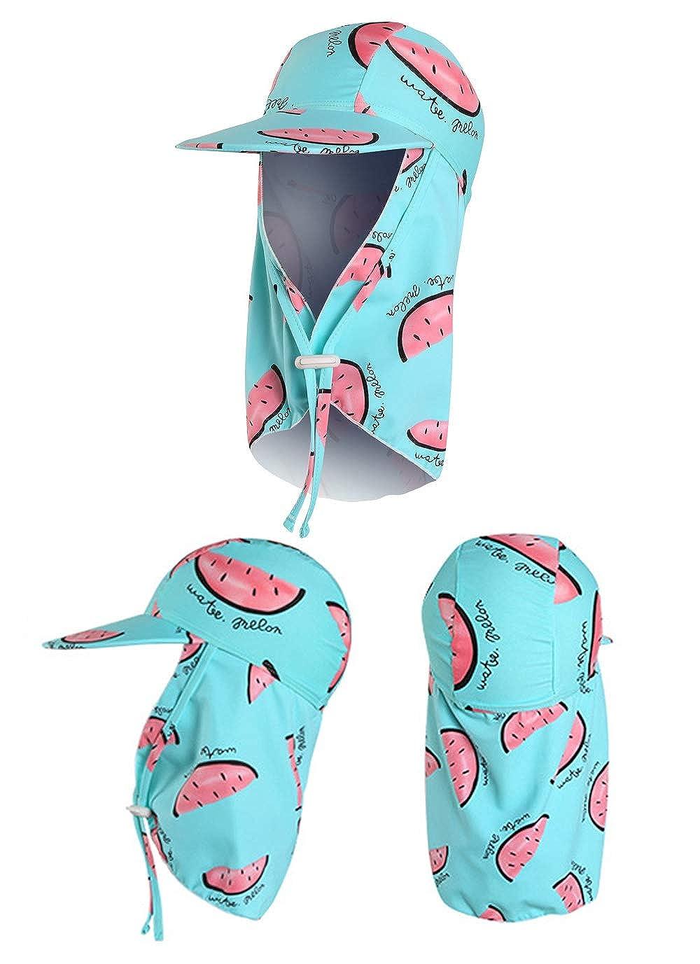 Happy Cherry Casquette Prot/ège Nuque Enfant Gar/çon Fille Chapeau Soleil Imprim/é Casquette Saharienne Prot/ège Cou Visage Oreilles pour Plage P/êche Randonn/ée Camping V/élo Voyage 11 Couleurs