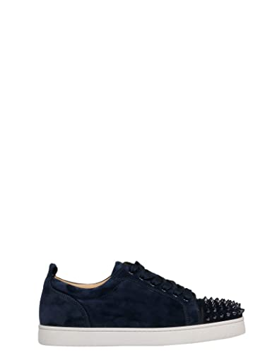 Christian Louboutin Men S 1180051v088 Blue Suede Sneakers Amazon