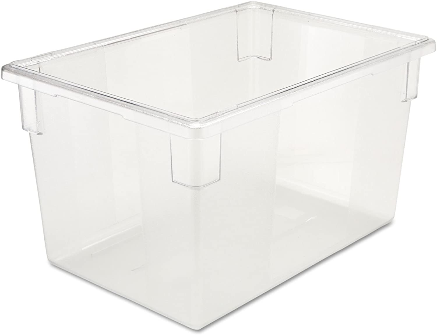 Rubbermaid Commercial Food/Tote Boxes, 21 1/2gal, 26w x 18d x 15h, Clear