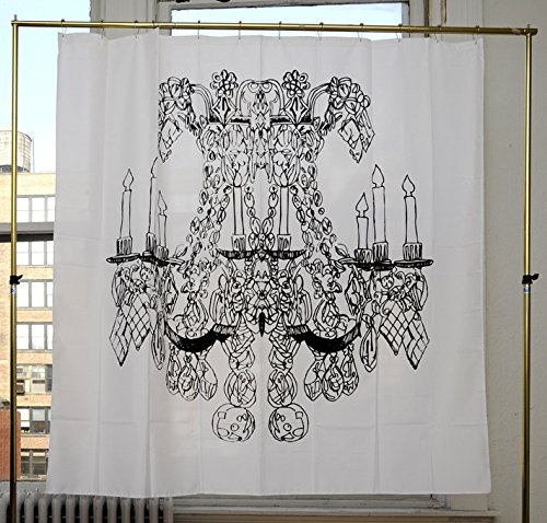 Izola PEVA Water and Mold Resistant Shower Curtain - Chandelier by Alexa Pultizer - Bronze Cabbage Rose