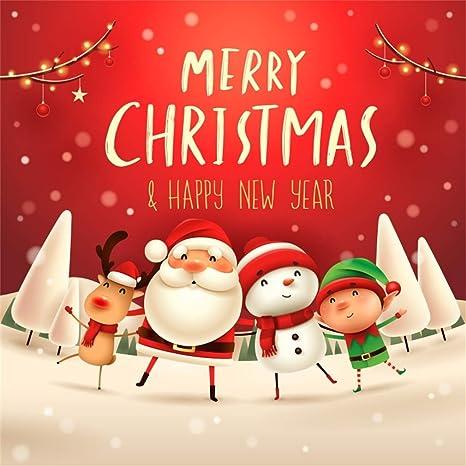 Merry Christmas Background.Amazon Com Yeele 7x7ft Merry Christmas Background For