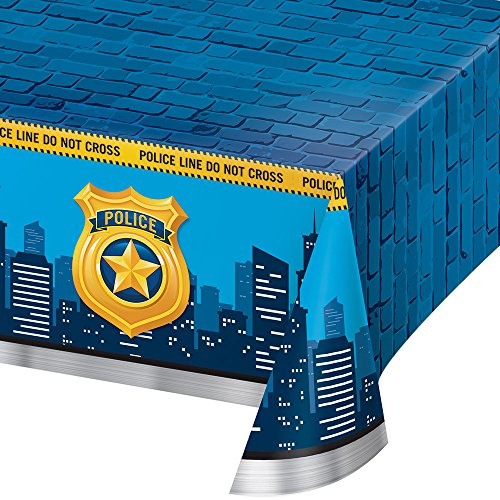 Creative Converting 329391 All Over All Over Print Plastic Tablecover, Blue]()