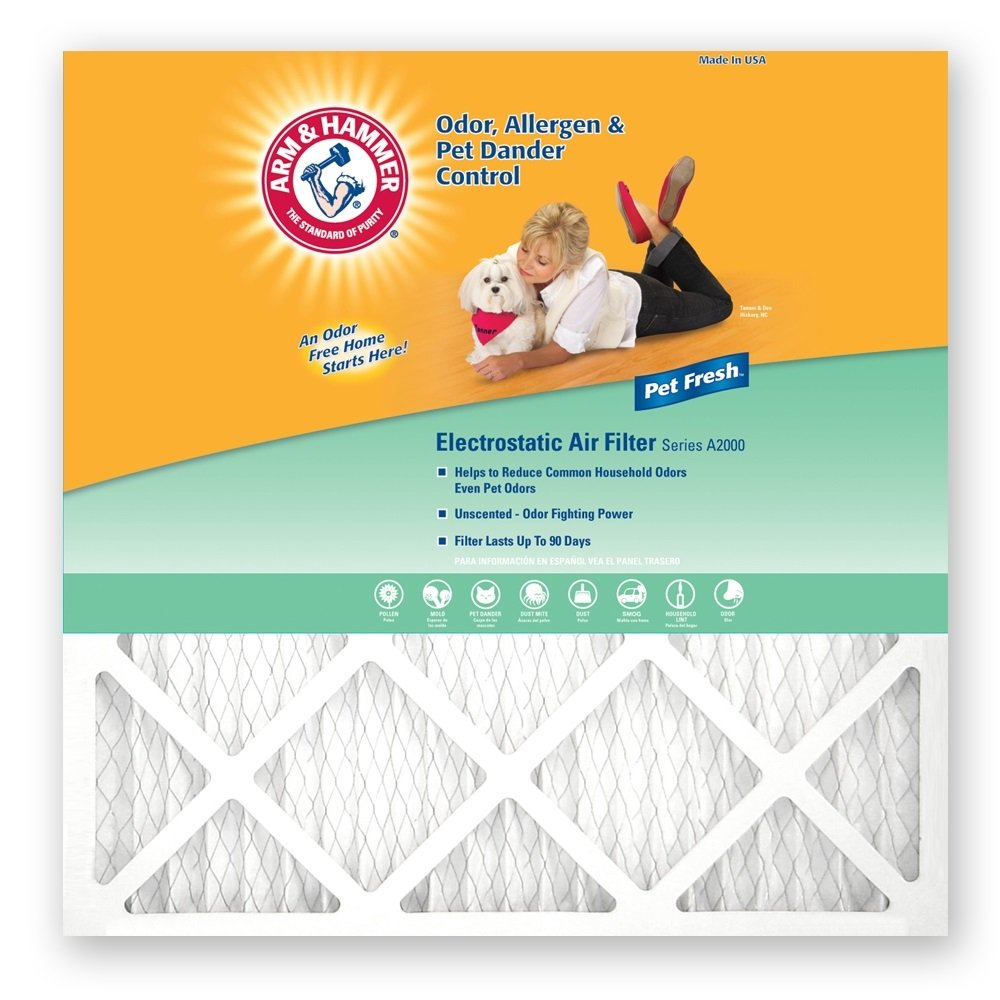 Best air filter for allergies and pet dander - Amazon Com Arm Hammer Af Ah1625 4 Enhanced Air Filter 16 Inch By 25 Inch By 1 Inch 4 Pack Home Improvement