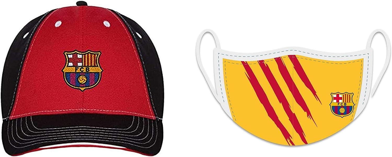 Combo - Gorra oficial del FC Barcelona con máscara oficial ...