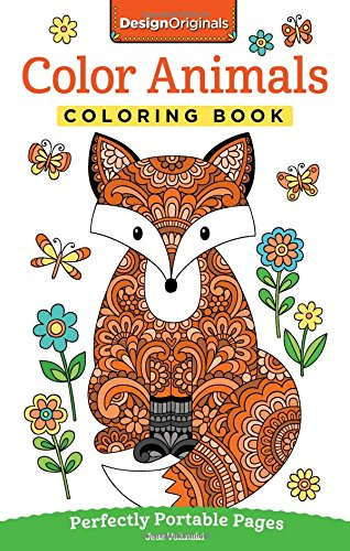 Color Animals Coloring Book: Perfectly Portable Pages (On-the-Go Coloring Book)