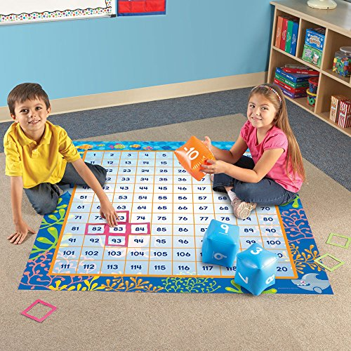 61BoqhJ9jeL - Learning Resources Make a Splash 120 Mat Floor Game, 136 Pieces