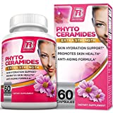 BRI Nutrition Phytoceramides - Natural Anti-Aging Skin & Hair Vitamins for Collagen Boost & Rejuvenation w Vitamins A + C + D + E - 350mg per Serving (1 Vegetable Capsule) - 60 Count