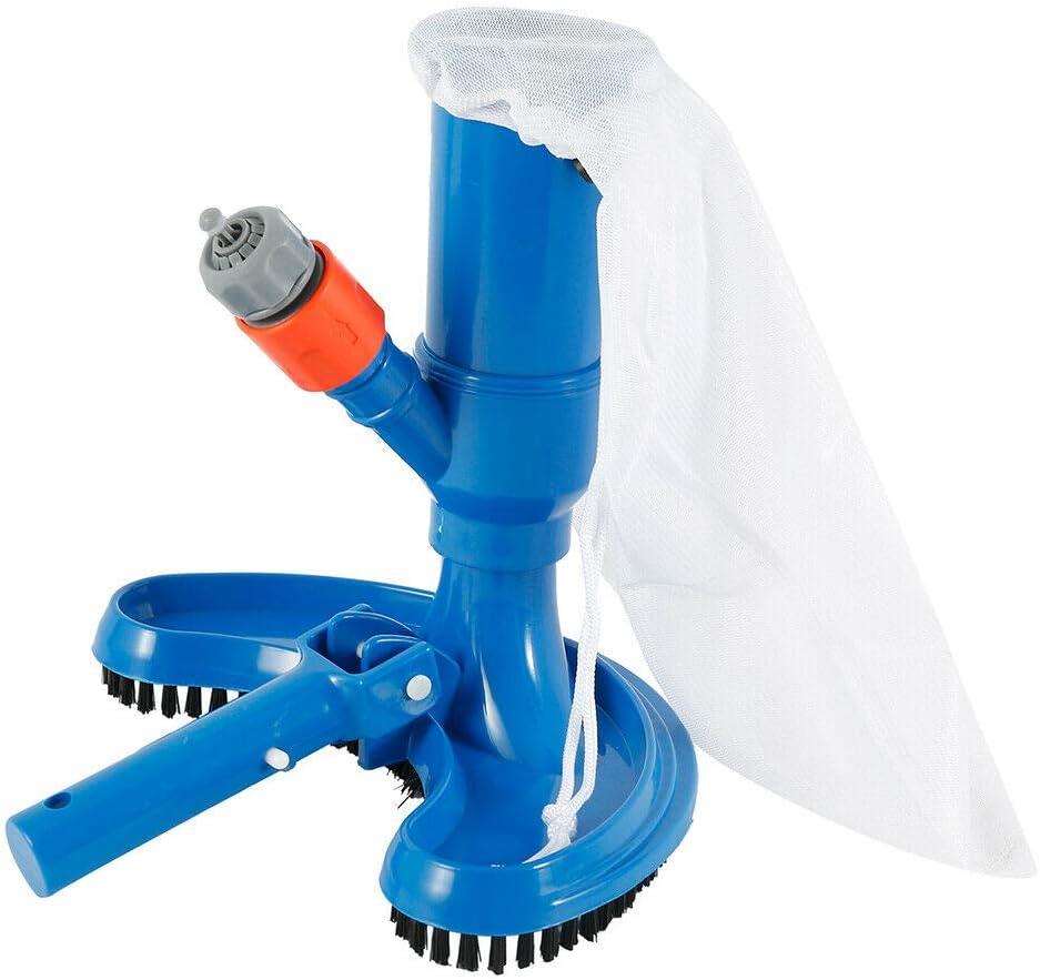 Vogueing Tool - Cepillo para aspiradora, cepillo resistente, para piscina, spa, chorros de agua, kit de mantenimiento para estanques, aguas termales, paredes
