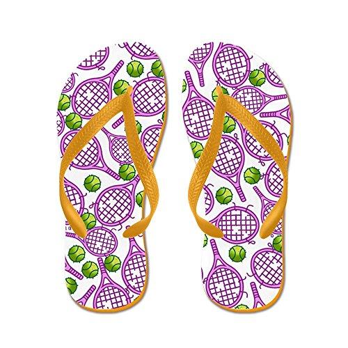 Cafepress Tennis Slippers - Flip Flops, Grappige String Sandalen, Strand Sandalen Oranje