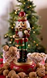 """Clever Creations Drummer Nutcracker Music Box Mouth and Arms Move with Music 