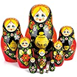 Tea Party Nesting Dolls Set of 10pcs Matryoshka Dolls babushka Dolls