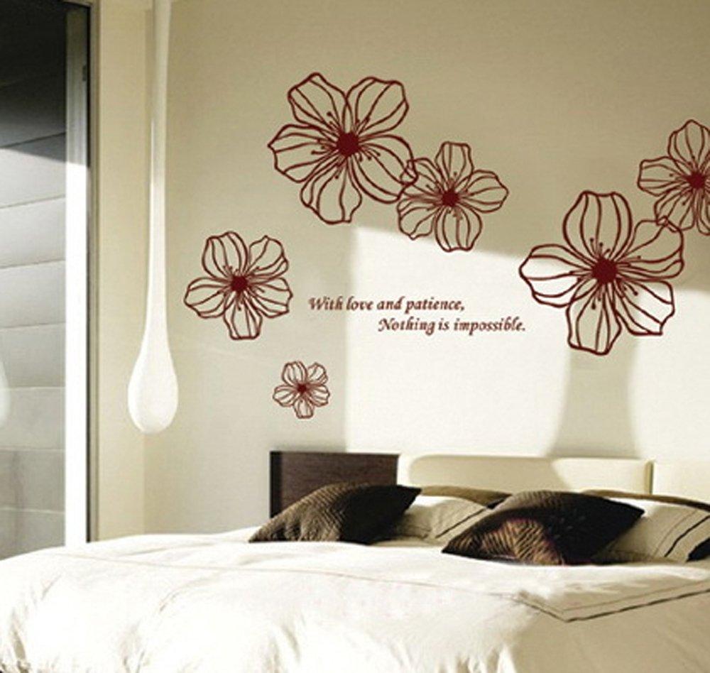 Excellent ufengke bellissimi fiori adesivi murali camera da letto with decorare pareti camera da - Decorazioni muro camera da letto ...
