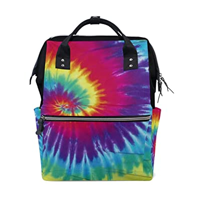 98365da7b8 Image Unavailable. Image not available for. Color  imobaby Purple Rainbow  Tie Dye Changing Bags Large ...