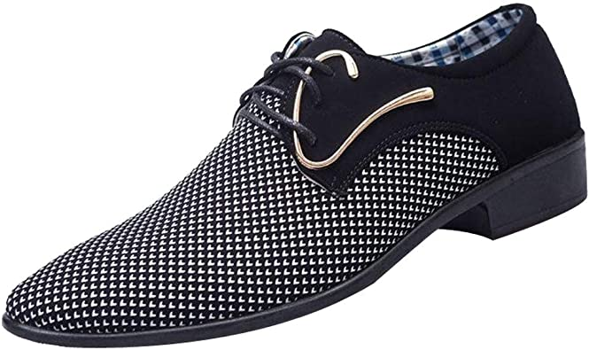Dolloress Mens Suit Shoes ⭐ Mens Pointed Classic British style with casual shoes business shoes